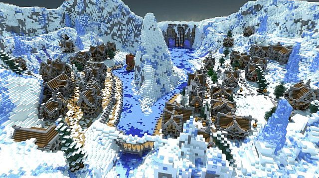 Winters secret village minecraft building ideas town