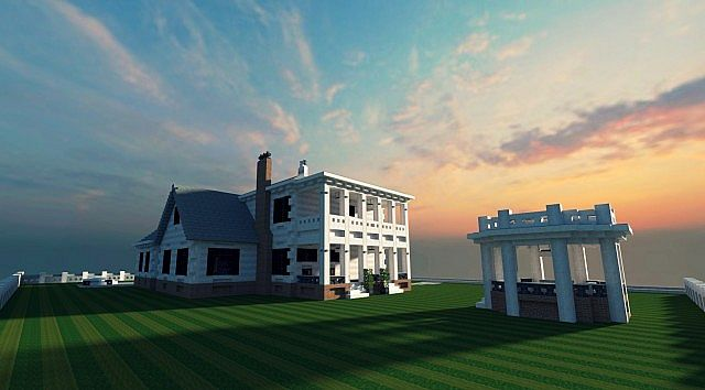 Federal Adams Colonial house minecraft building 3