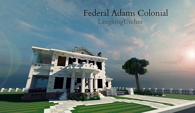 Federal Adams Colonial house minecraft building