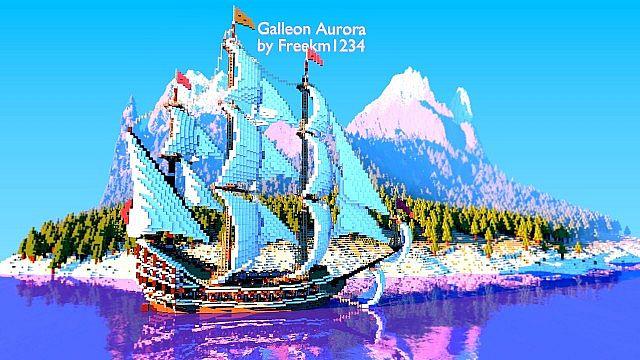 Galleon Aurora Ship Minecraft 2