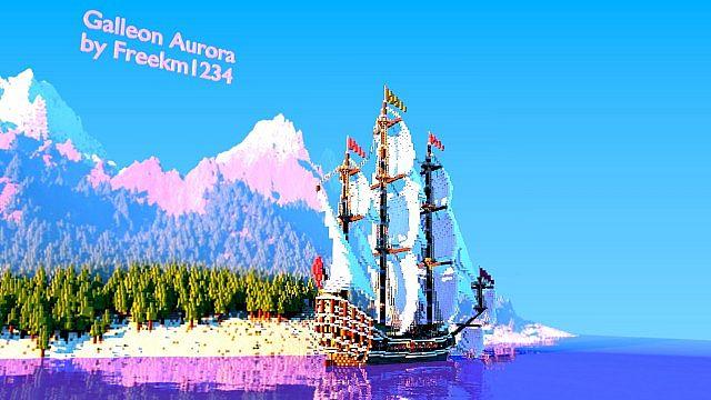Galleon Aurora Ship Minecraft 3