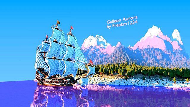 Galleon Aurora Ship Minecraft 4