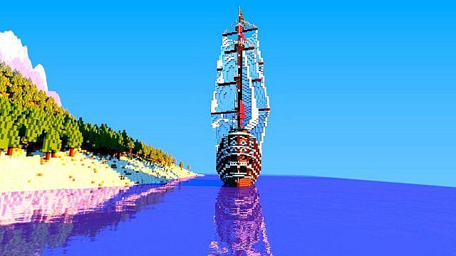 Galleon Aurora Ship Minecraft 6