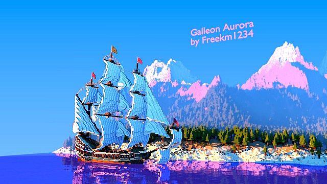 Galleon Aurora Ship Minecraft 7