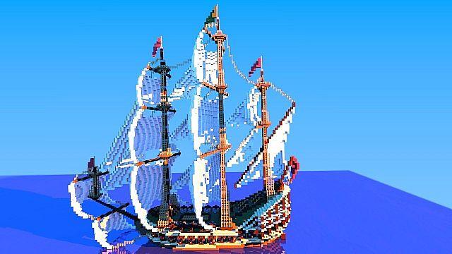 Galleon Aurora Ship Minecraft 8