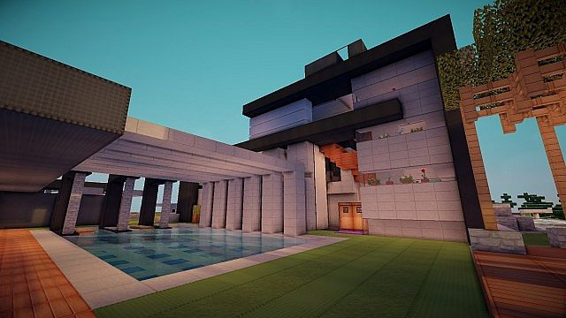 Luxurious Modern House 3 minecraft building 11
