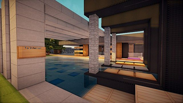 Luxurious Modern House 3 minecraft building 12