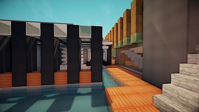 Luxurious Modern House 3 minecraft building 14
