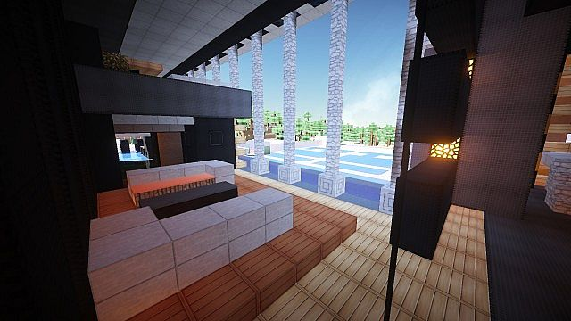 Luxurious Modern House 3 minecraft building 17