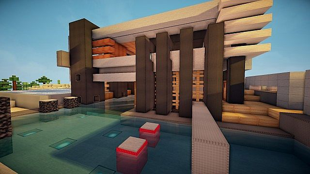 Luxurious Modern House 3 minecraft building 7