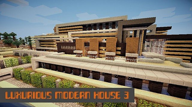 Luxurious Modern House 3 minecraft building