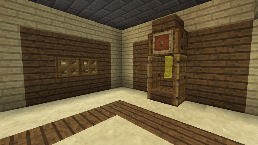 Minecraft grandfather clock interior how to.png