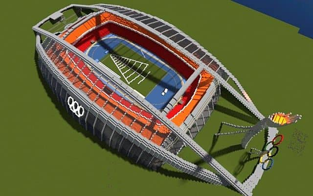 Olympic Stadium minecraft building ideas 3