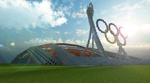 Olympic Stadium minecraft building ideas