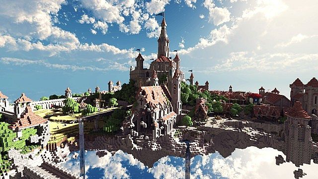Minecraft Building Ideas castle village