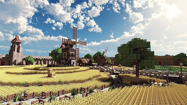Terados | Castle and Village – Minecraft Building Inc