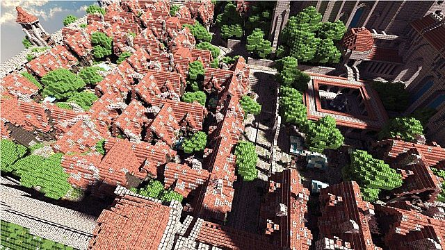 Terados Castle Minecraft village ideas 4