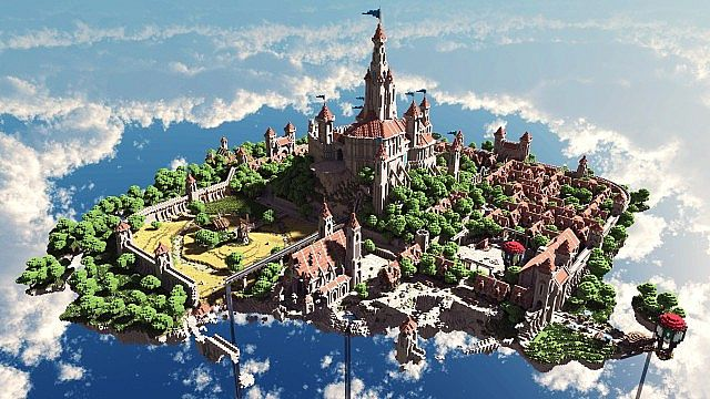 Terados Castle Minecraft village ideas
