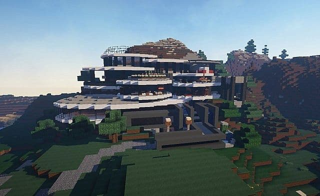 The grande mansion minecraft building inc for Big modern house tour
