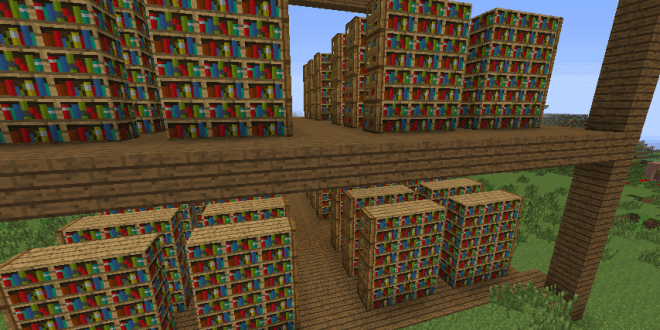Bookshelf Library Minecraft ideas Interior 2