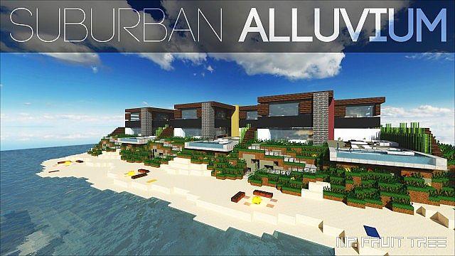 De Stijl 3 Suburban Alluvium Modern Seaside Townhouses minecraft