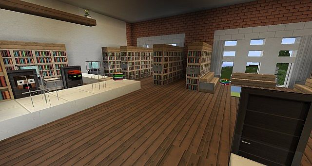 Ironhurst Elementary School minecraft building 7