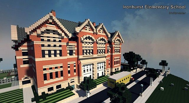 Ironhurst Elementary School minecraft building