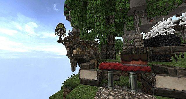 Market Mappack minecraft building ideas floating city 10