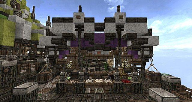 Market Mappack minecraft building ideas floating city 11