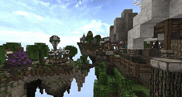 Market Mappack minecraft building ideas floating city 6