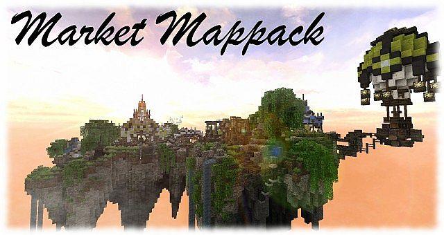 Market Mappack minecraft building ideas floating city
