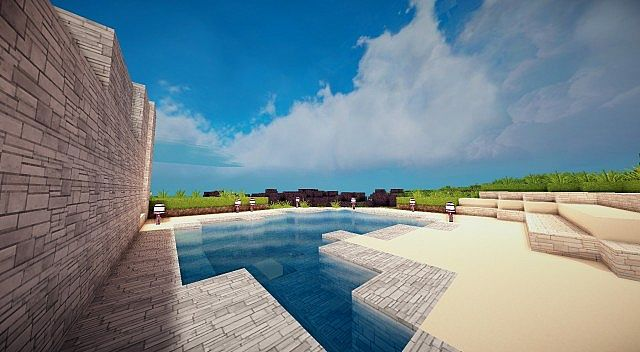 Mirage luxury modern house minecraft building ideas 3