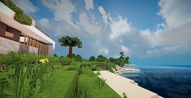 Mirage luxury modern house minecraft building ideas 4