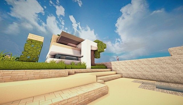 Mirage luxury modern house minecraft building ideas 5