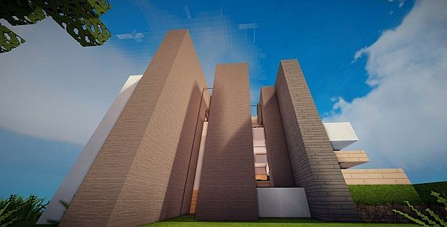 Mirage luxury modern house minecraft building ideas 6