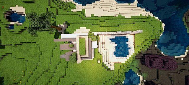 Mirage luxury modern house minecraft building ideas 7