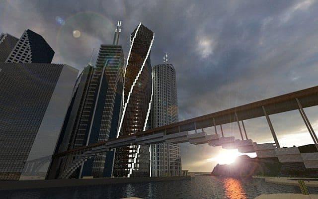 Twisting Tower minecraft city ideas building