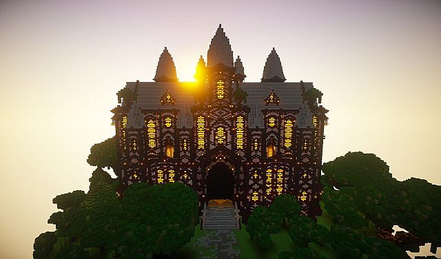 cliff mansion minecraft building ideas 2