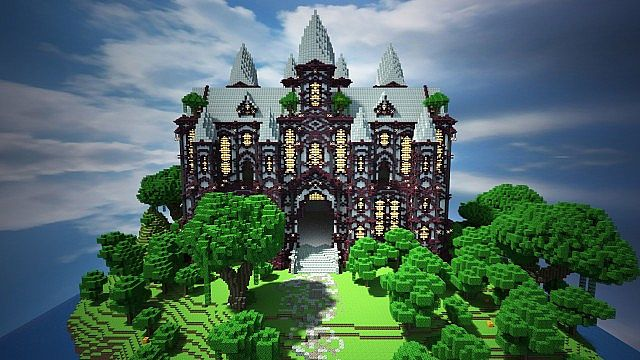 cliff mansion minecraft building ideas 3