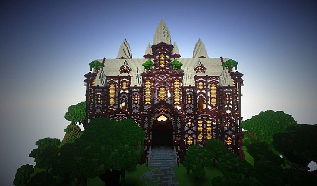 cliff mansion minecraft building ideas 4