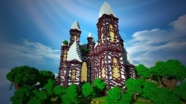 cliff mansion minecraft building ideas 5