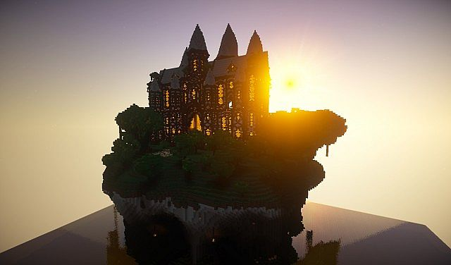 cliff mansion minecraft building ideas 6