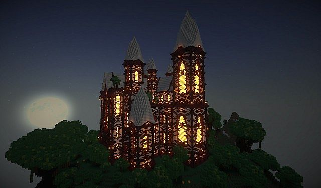 cliff mansion minecraft building ideas 7