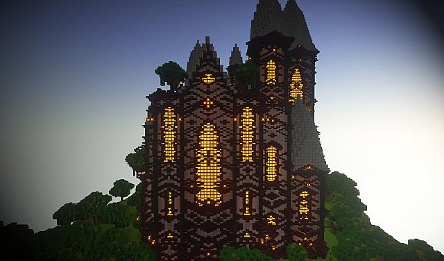 cliff mansion minecraft building ideas 8