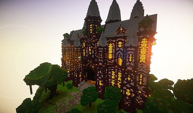 cliff mansion minecraft building ideas
