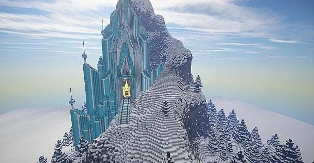 Frozen  Elsas Ice Castle  Minecraft Building Inc
