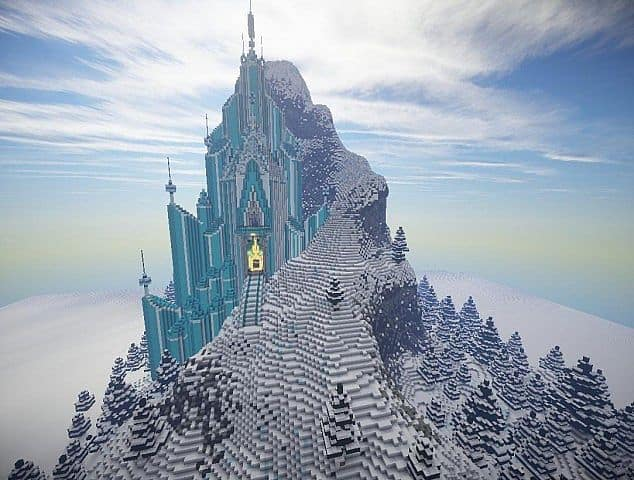Frozen - Elsa's Ice Castle minecraft building ideas 2