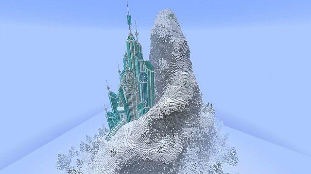 Frozen - Elsa's Ice Castle minecraft building ideas 3