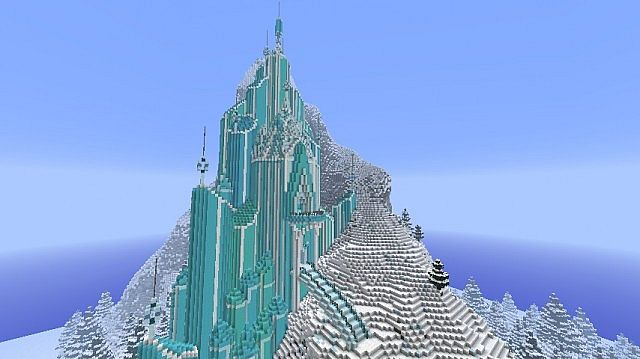 Frozen - Elsa's Ice Castle minecraft building ideas 5