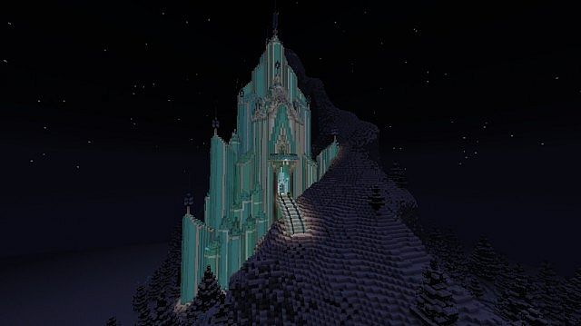 Frozen - Elsa's Ice Castle minecraft building ideas 6
